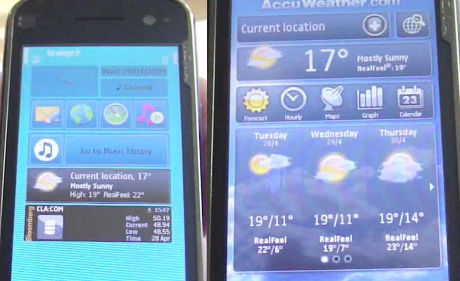 AccuWeather on the N97