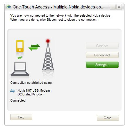 Ovi – One Touch Access, Tethering the Nokia N97 to your PC