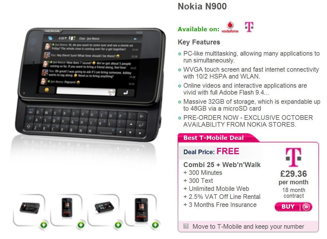 Nokia N900 Deals Nokia N900 To Hit The Uk On Nov 16 Free