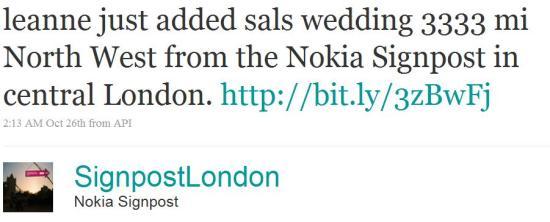 Nokia Signpost London