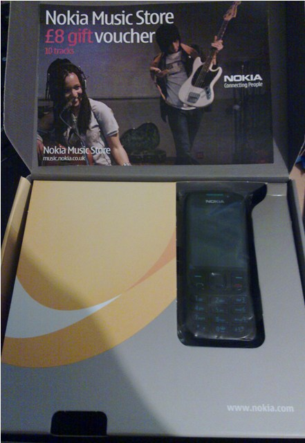Nokia 6303 phone + voucher