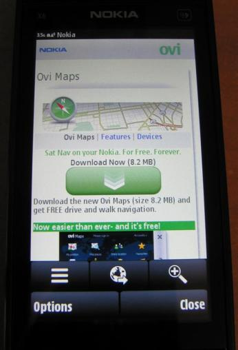 Ovi Maps - Download Page