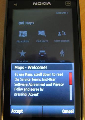 Ovi Maps - Licence
