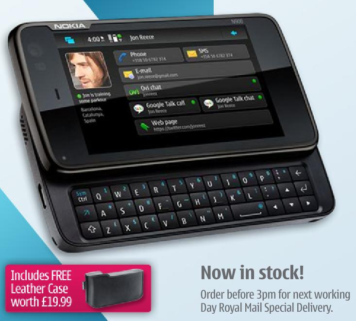 Nokia N900 Deals N900 Free On A 163 25 Month Contract 163