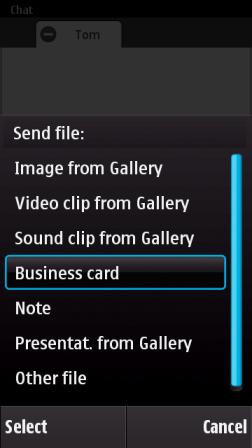 file sharing types - OVI Contacts: nova atualização 1.5