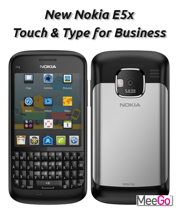 Nokia E5x MeeGo Touch and Type Concept