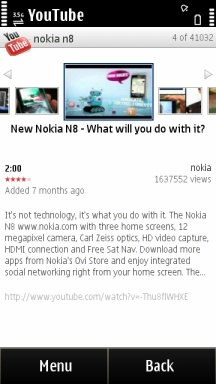 Official YouTube App available for Symbian^3 : My Nokia Blog - 200